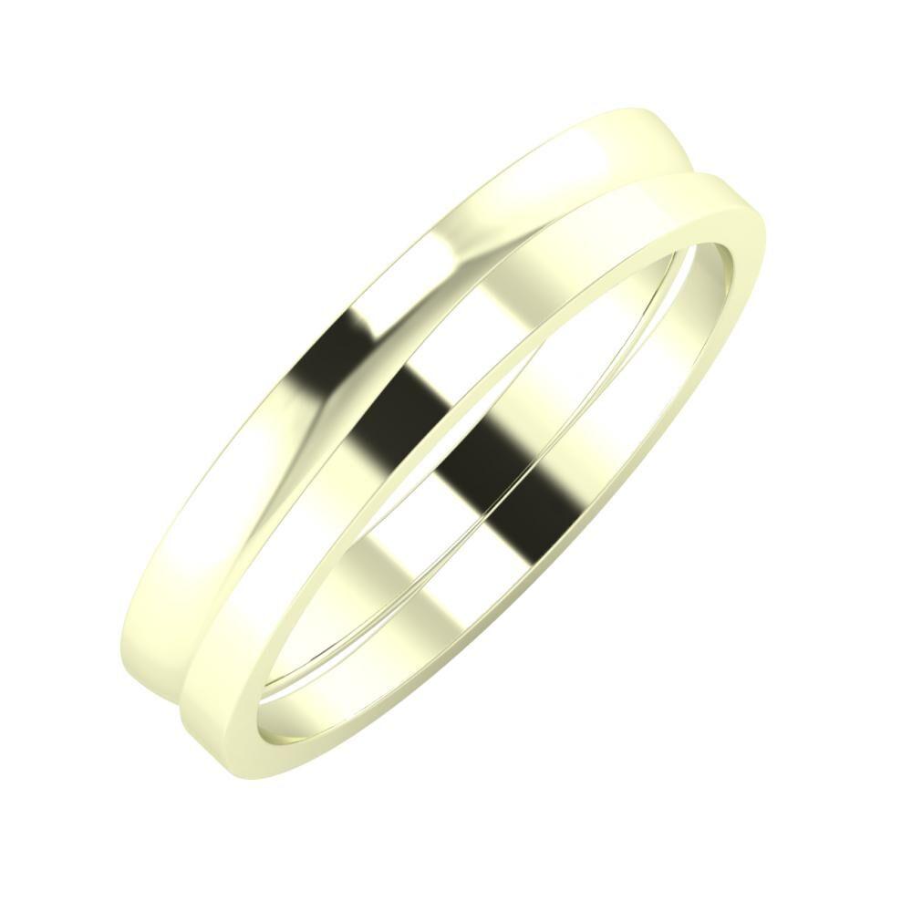 Ágosta - Adria 4mm 22 karátos fehér arany karikagyűrű