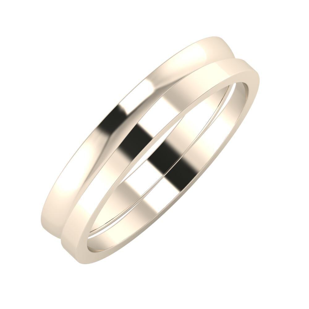Ágosta - Adria 4mm 22 karátos rosé arany karikagyűrű