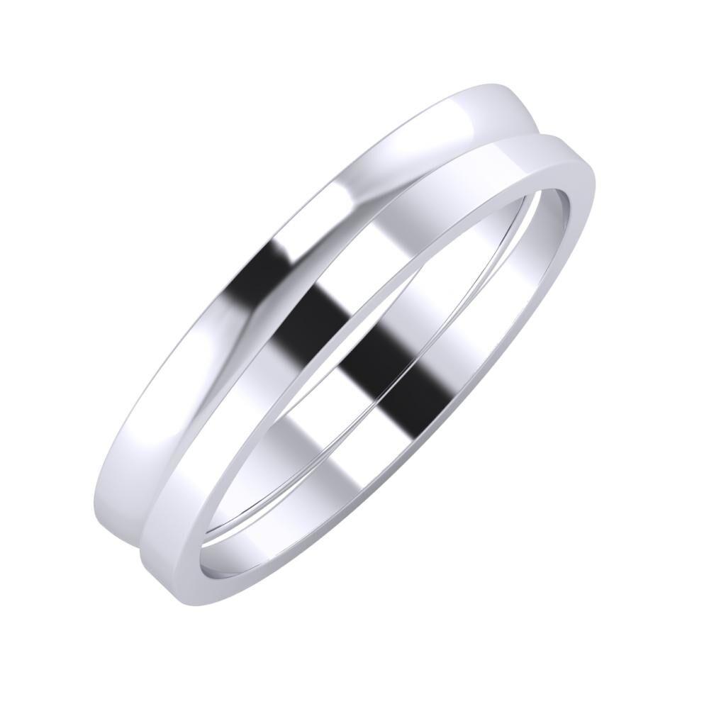 Ágosta - Adria 4mm platina karikagyűrű