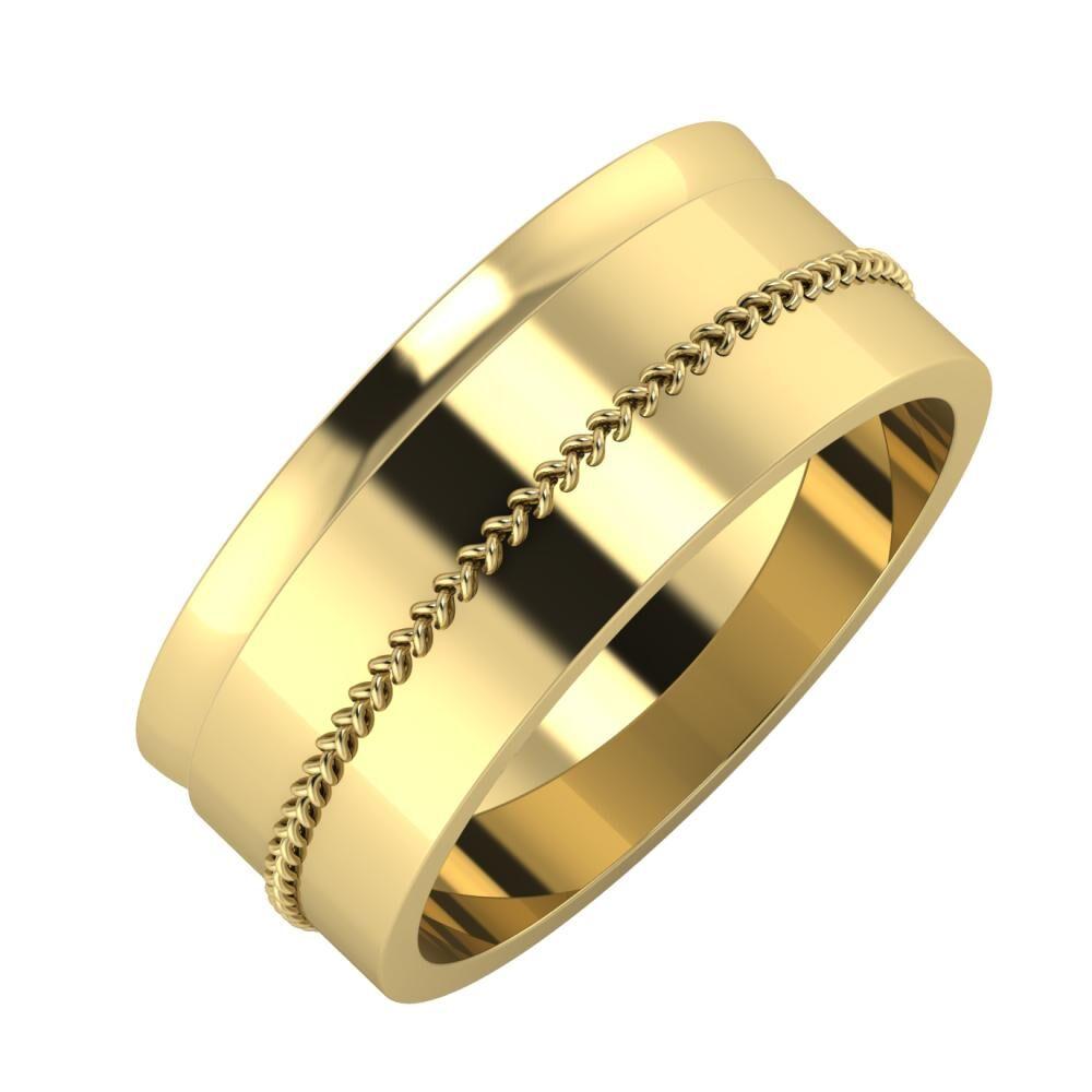 Ágosta - Áfonya 8mm 14 karátos sárga arany karikagyűrű