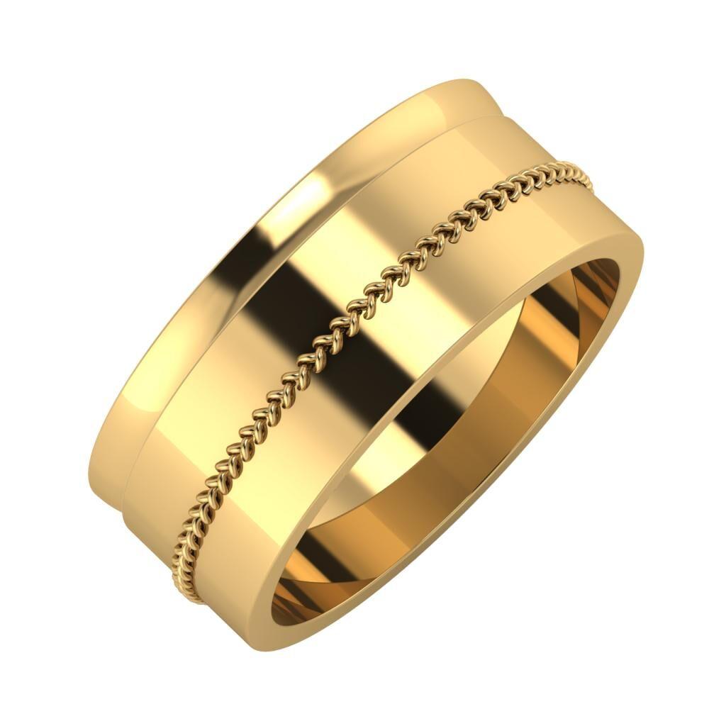 Ágosta - Áfonya 8mm 18 karátos sárga arany karikagyűrű