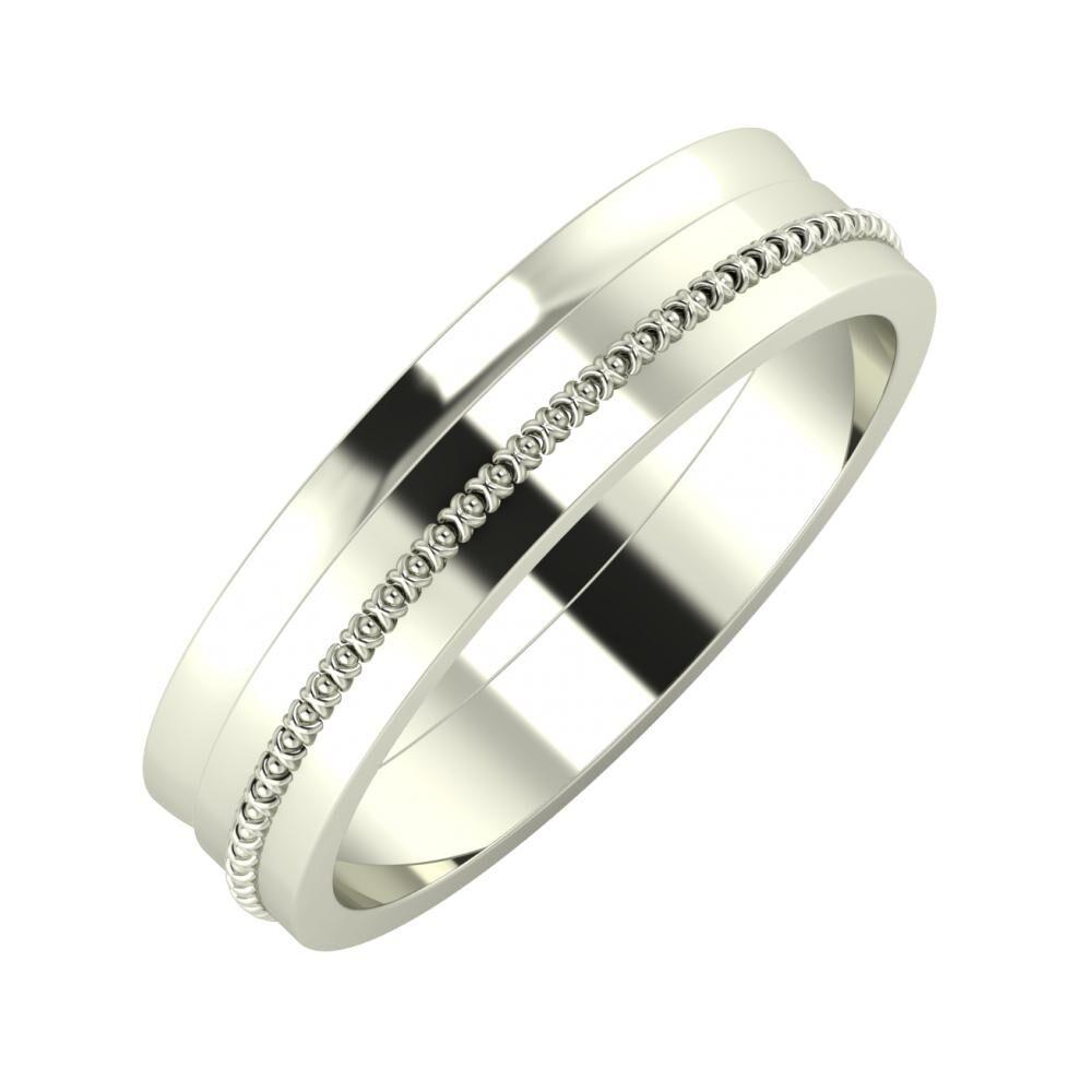 Ágosta - Afrodita 5mm 14 karátos fehér arany karikagyűrű