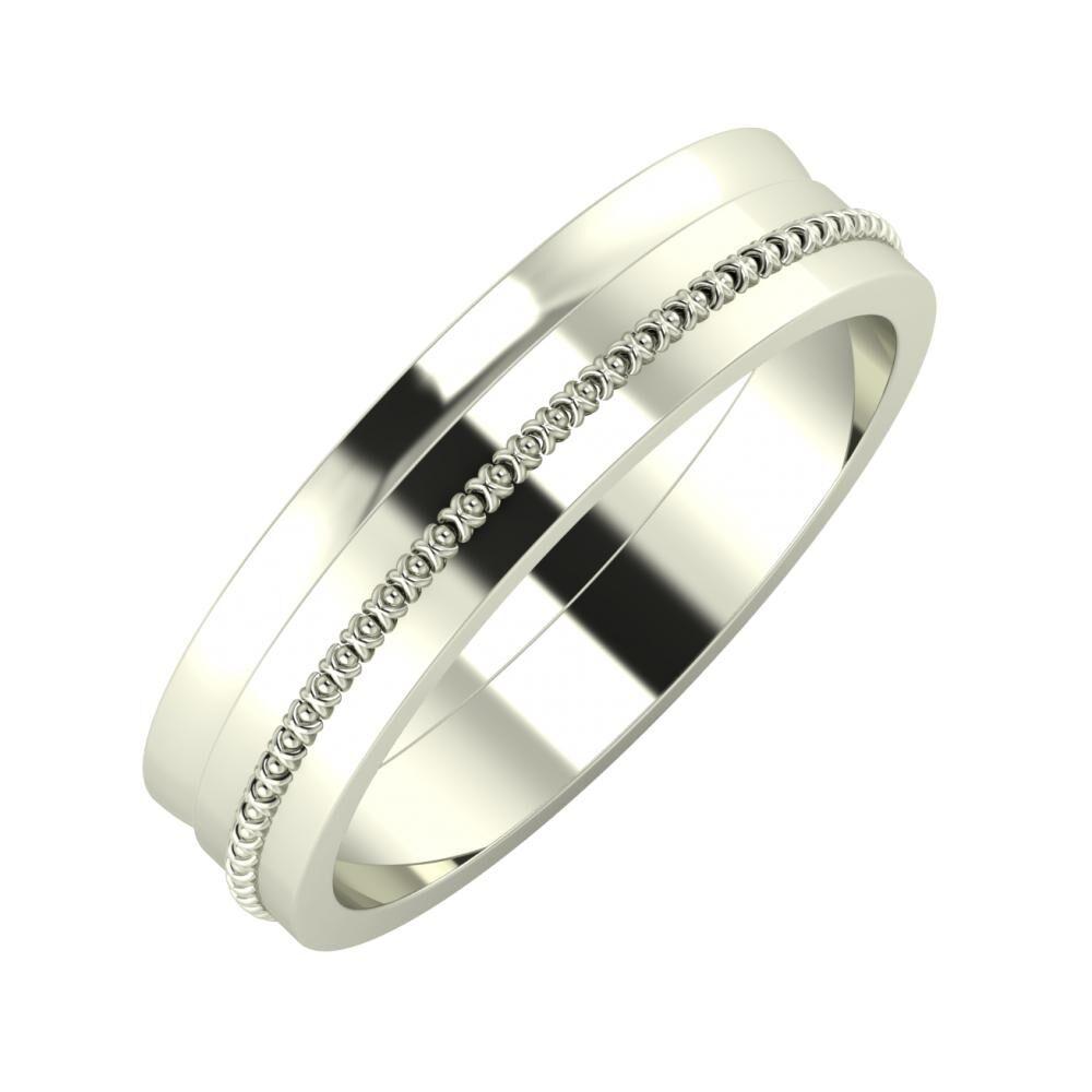 Ágosta - Afrodita 5mm 18 karátos fehér arany karikagyűrű