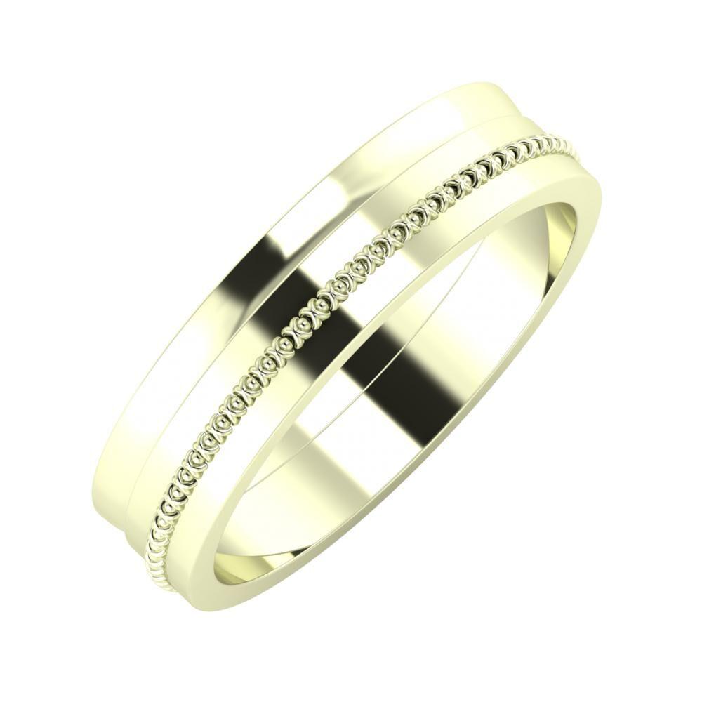 Ágosta - Afrodita 5mm 22 karátos fehér arany karikagyűrű