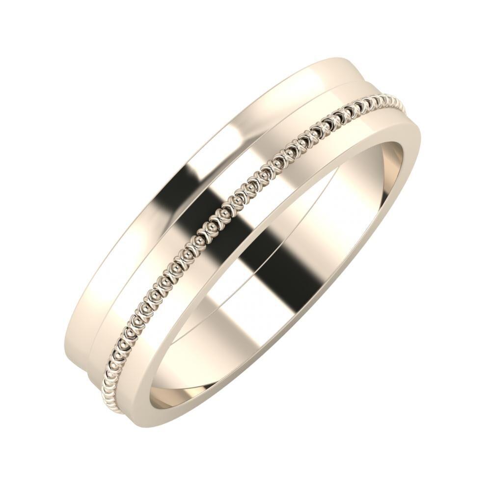 Ágosta - Afrodita 5mm 22 karátos rosé arany karikagyűrű