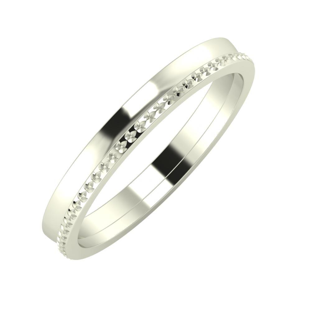 Ágosta - Ági 3mm 18 karátos fehér arany karikagyűrű