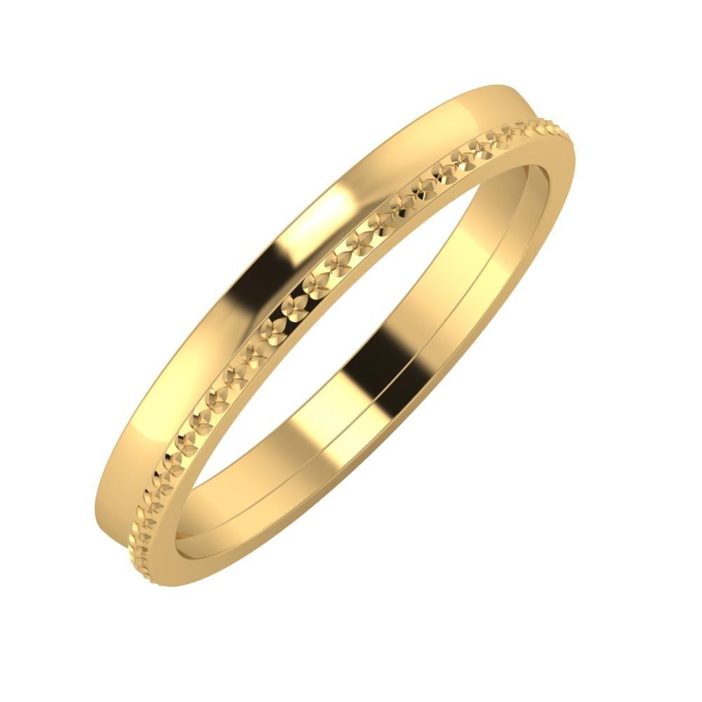 Ágosta - Ági 3mm 22 karátos sárga arany karikagyűrű