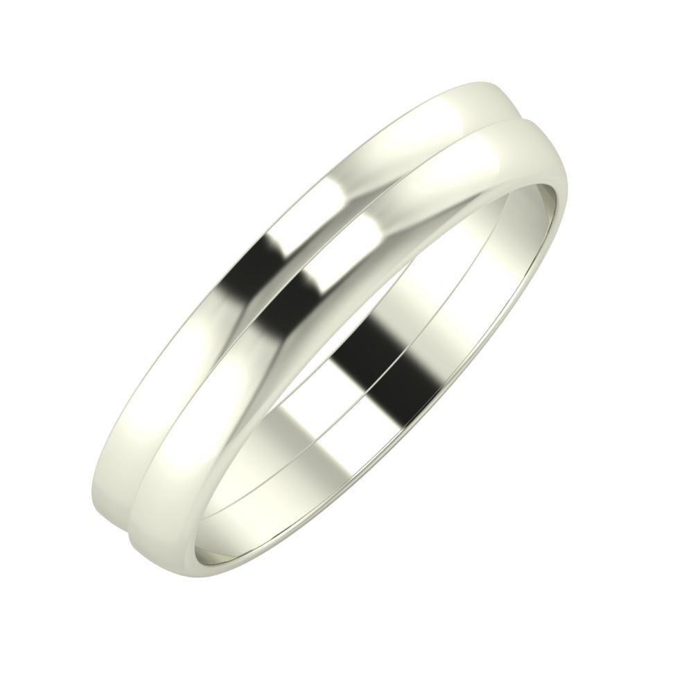 Ágosta - Ágosta 4mm 14 karátos fehér arany karikagyűrű