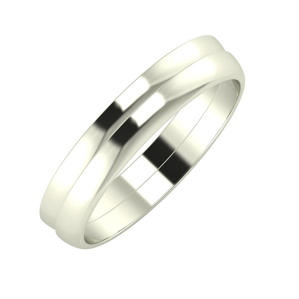 Ágosta - Ágosta 4mm 18 karátos fehér arany karikagyűrű