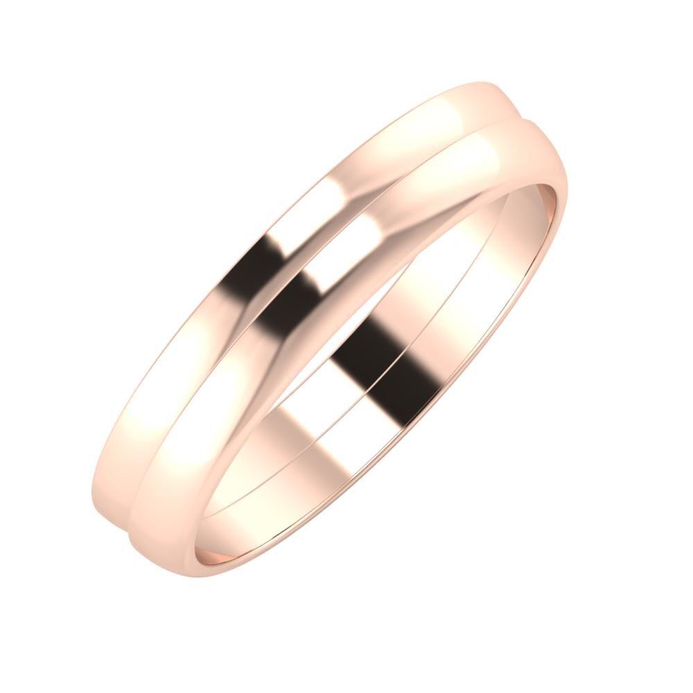 Ágosta - Ágosta 4mm 18 karátos rosé arany karikagyűrű