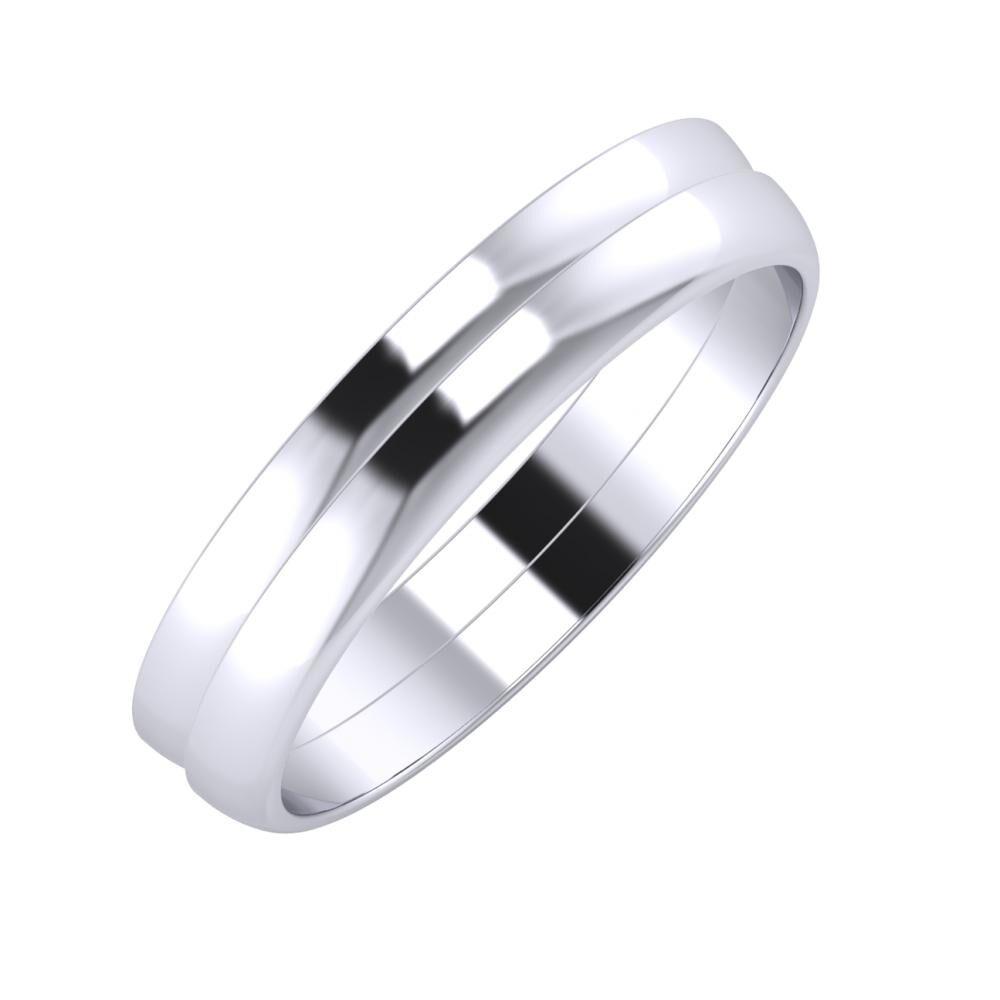 Ágosta - Ágosta 4mm platina karikagyűrű