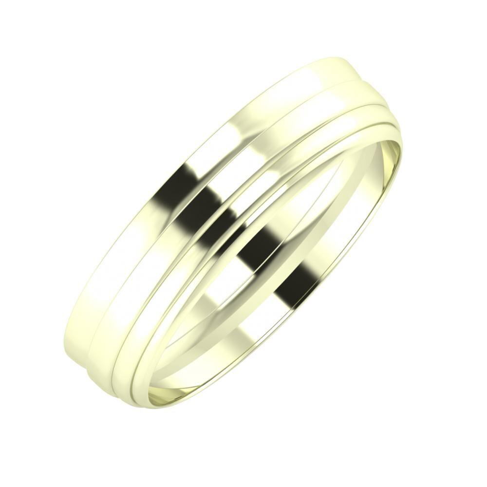 Ágosta - Aina 5mm 22 karátos fehér arany karikagyűrű
