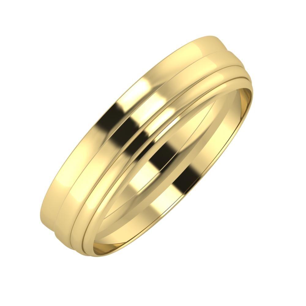 Ágosta - Aina 5mm 14 karátos sárga arany karikagyűrű