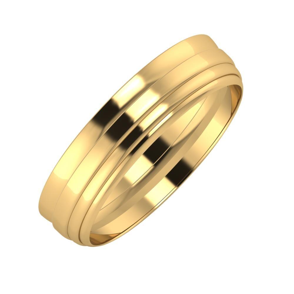 Ágosta - Aina 5mm 22 karátos sárga arany karikagyűrű