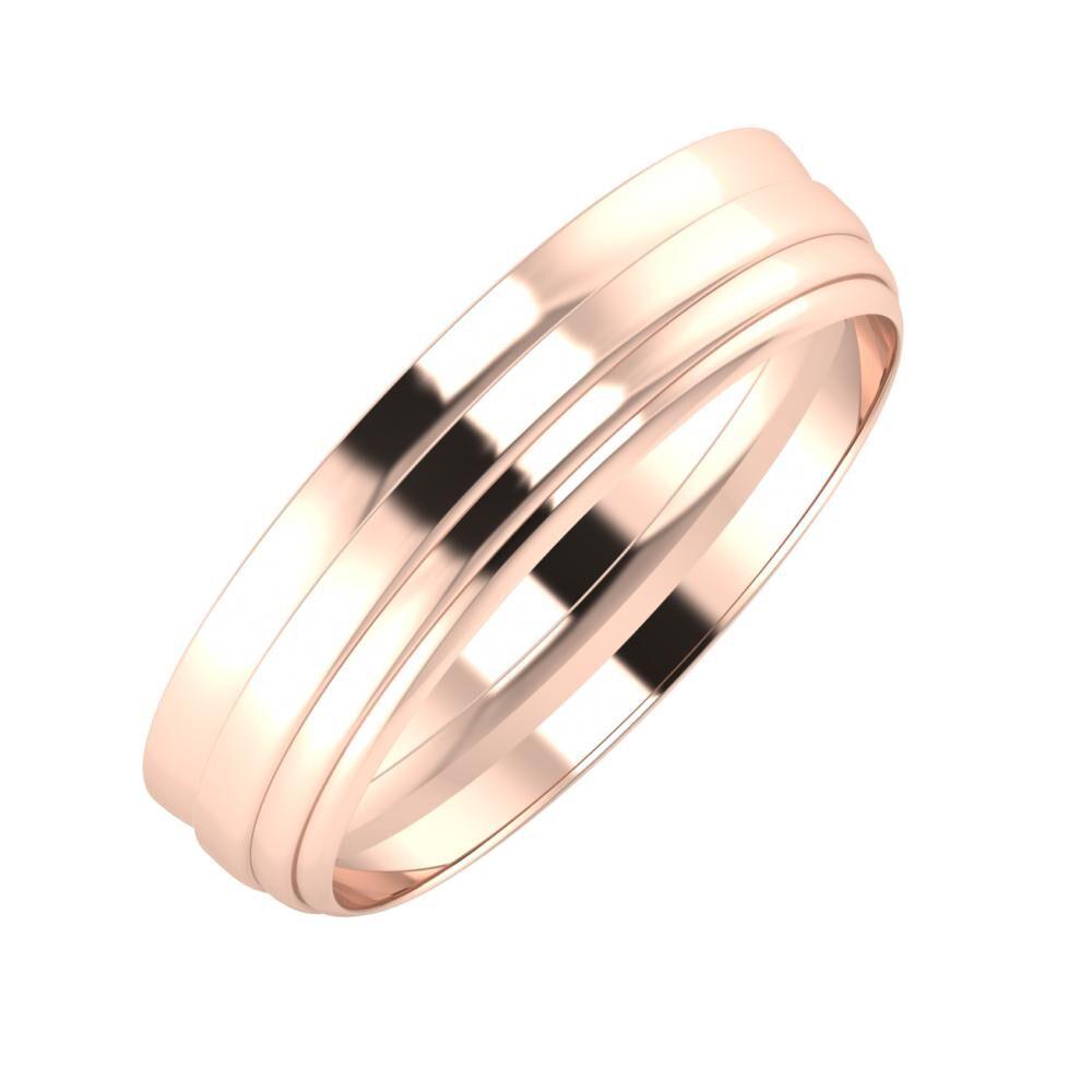 Ágosta - Aina 5mm 14 karátos rosé arany karikagyűrű