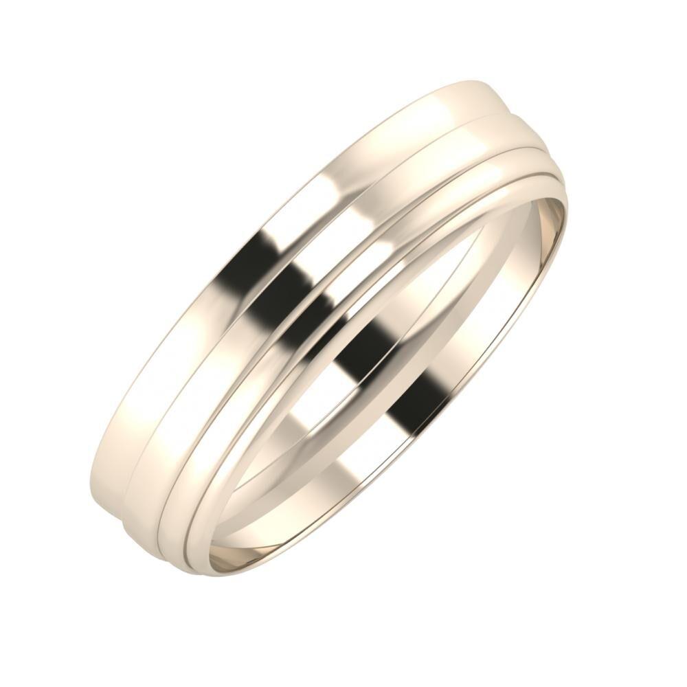 Ágosta - Aina 5mm 22 karátos rosé arany karikagyűrű
