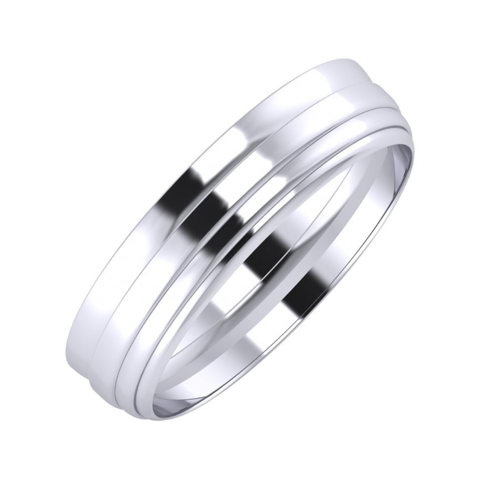 Ágosta - Aina 5mm platina karikagyűrű