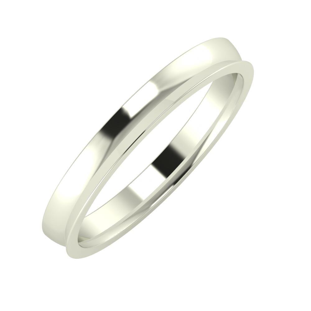 Ágosta - Aisa 3mm 14 karátos fehér arany karikagyűrű