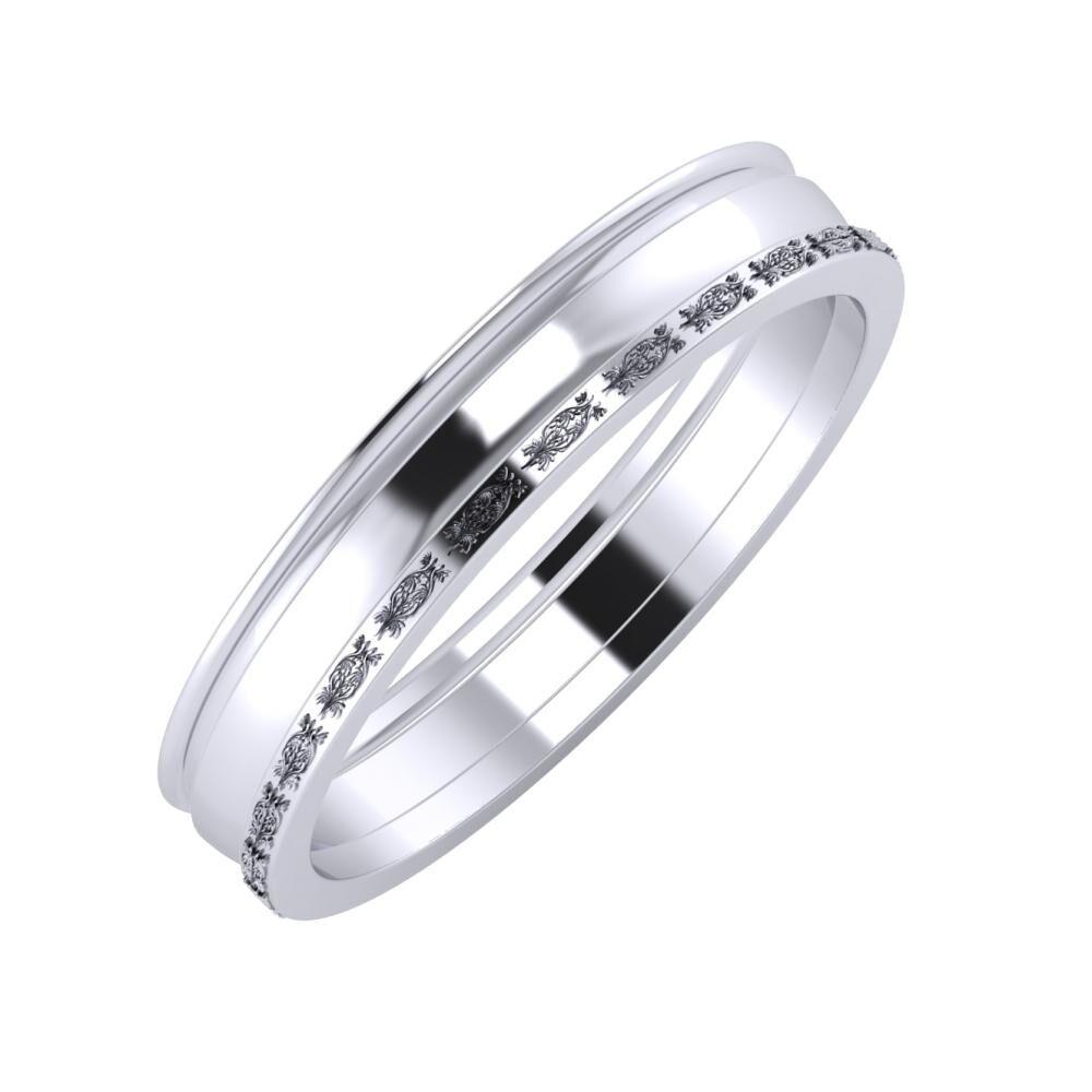 Agrippína - Ágosta - Agnella 4mm platina karikagyűrű
