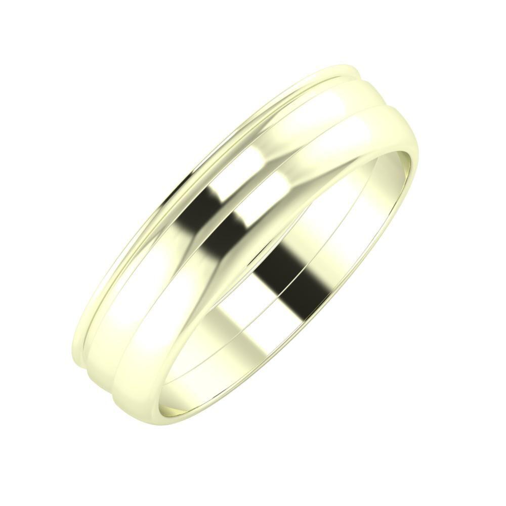 Agrippína - Ágosta - Ágosta 5mm 22 karátos fehér arany karikagyűrű
