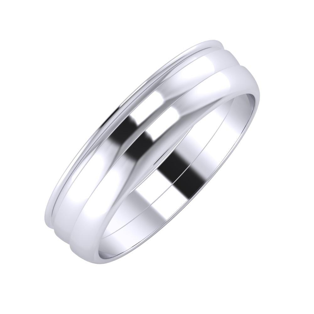 Agrippína - Ágosta - Ágosta 5mm platina karikagyűrű