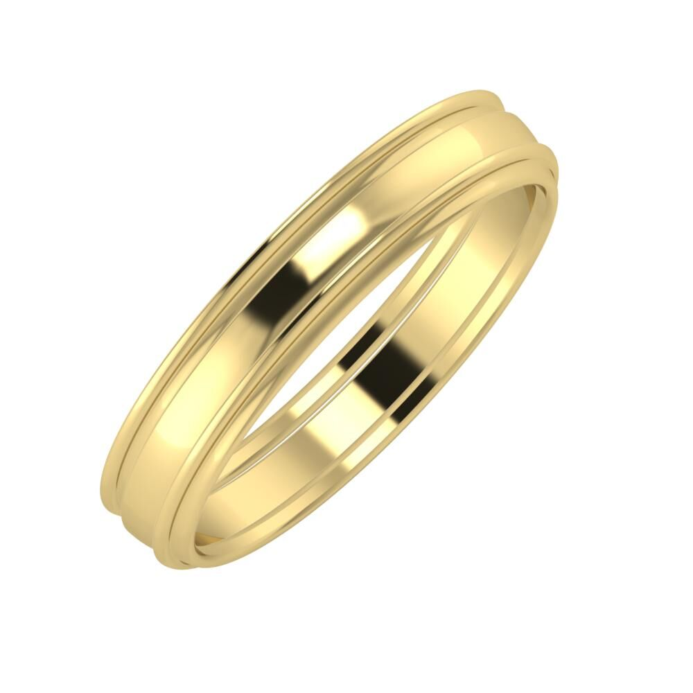 Agrippína - Ágosta - Agrippína 4mm 14 karátos sárga arany karikagyűrű