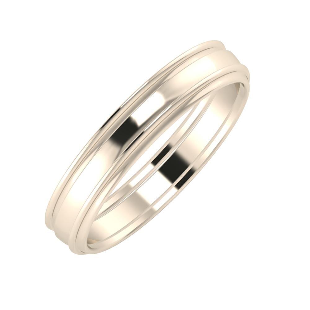 Agrippína - Ágosta - Agrippína 4mm 22 karátos rosé arany karikagyűrű