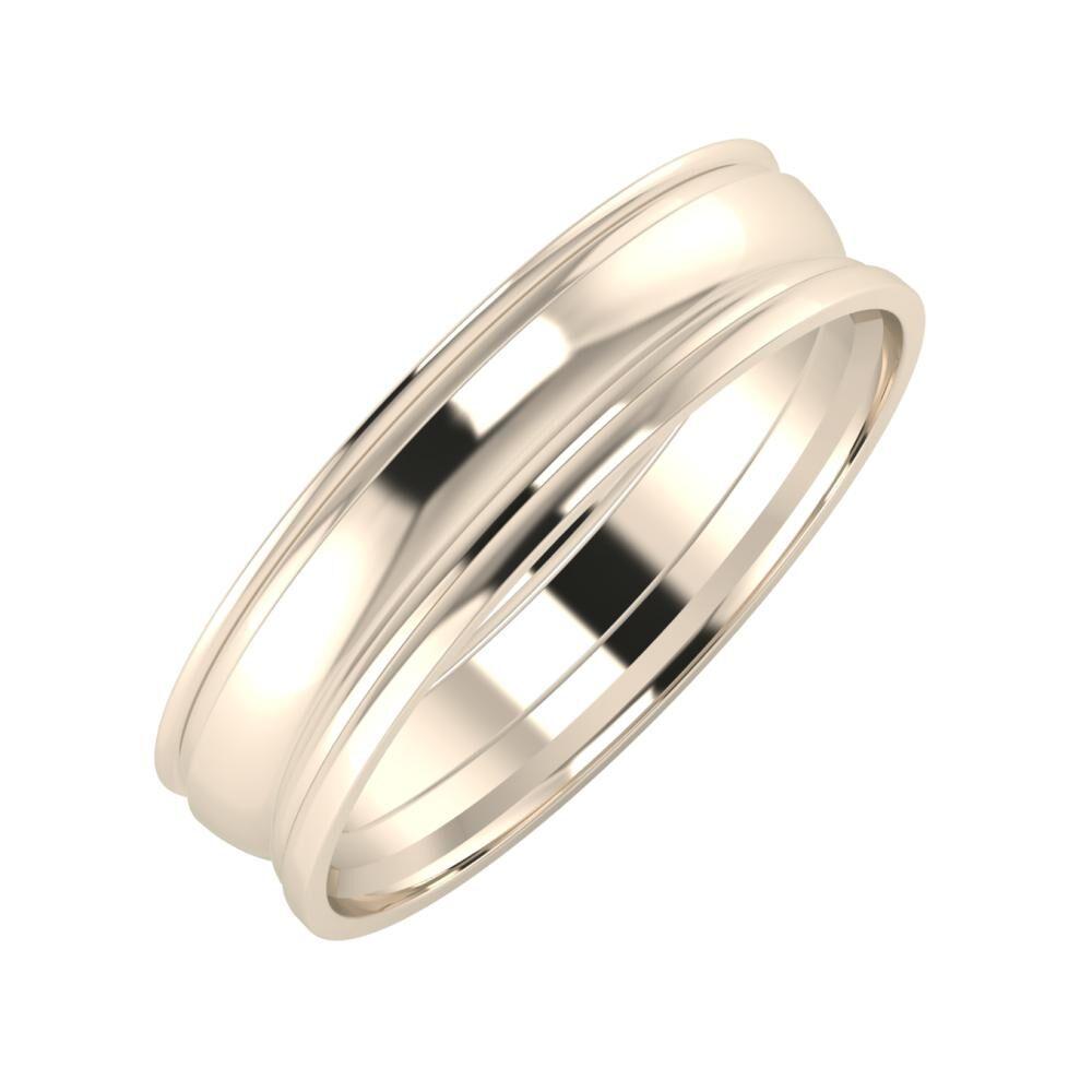Agrippína - Ágosta - Aida 5mm 22 karátos rosé arany karikagyűrű