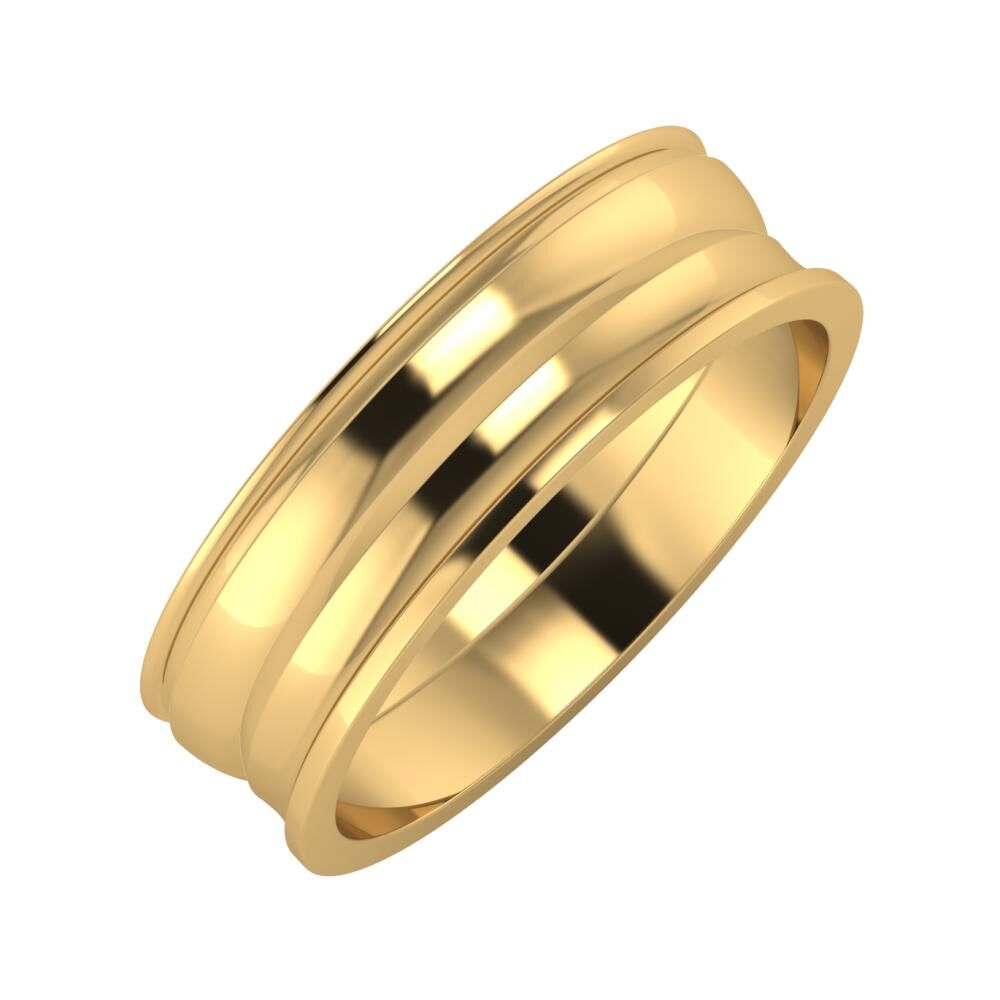 Agrippína - Ágosta - Ainó 6mm 18 karátos sárga arany karikagyűrű