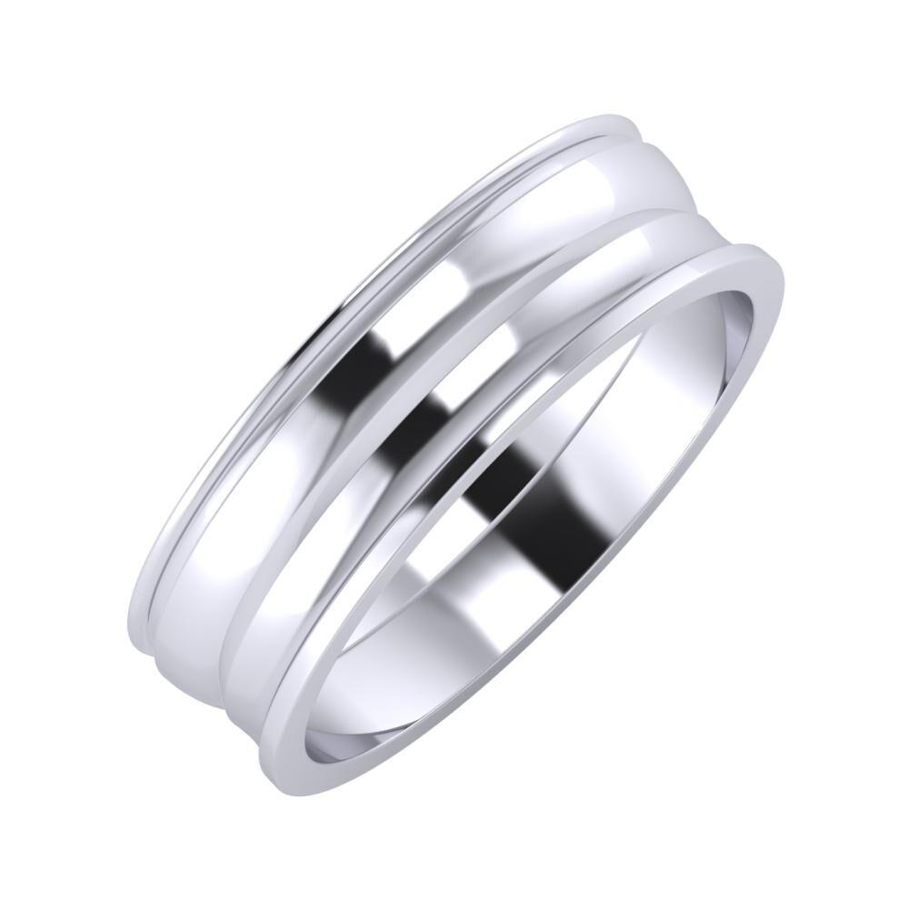 Agrippína - Ágosta - Ainó 6mm platina karikagyűrű