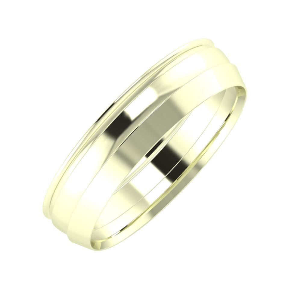 Agrippína - Ágosta - Aisah 5mm 22 karátos fehér arany karikagyűrű