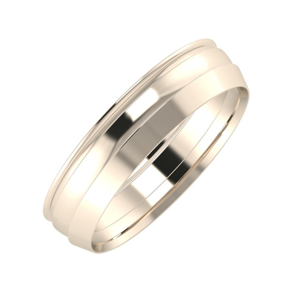 Agrippína - Ágosta - Aisah 5mm 22 karátos rosé arany karikagyűrű