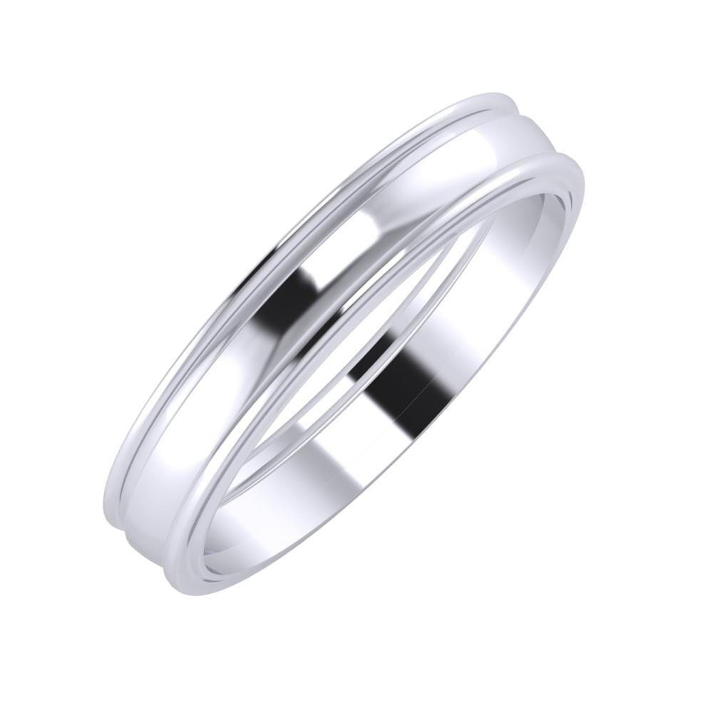 Agrippína - Ágosta - Ajra 4mm platina karikagyűrű