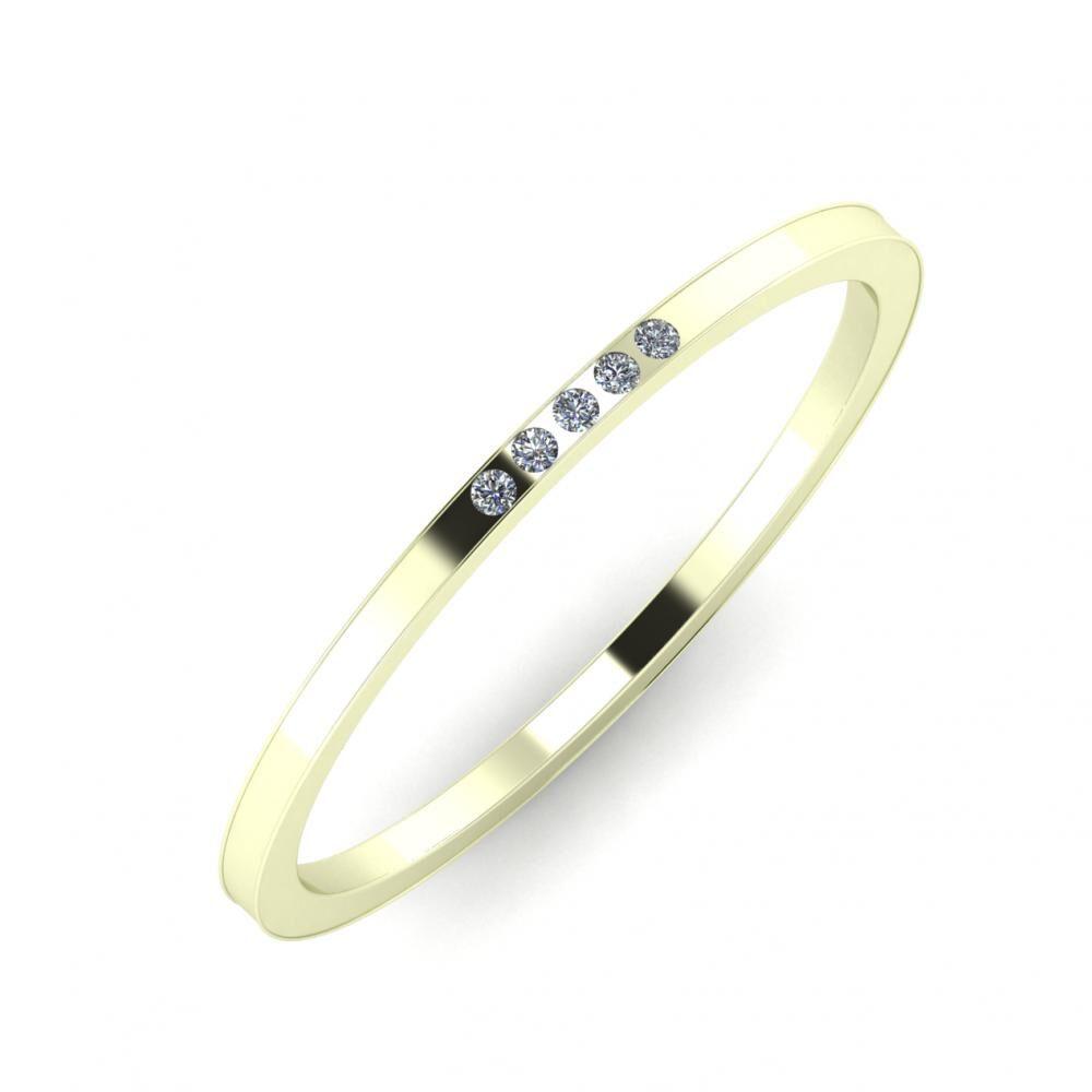 Agrippína - Agrippína - Adelaida 3mm 22 karátos fehér arany karikagyűrű
