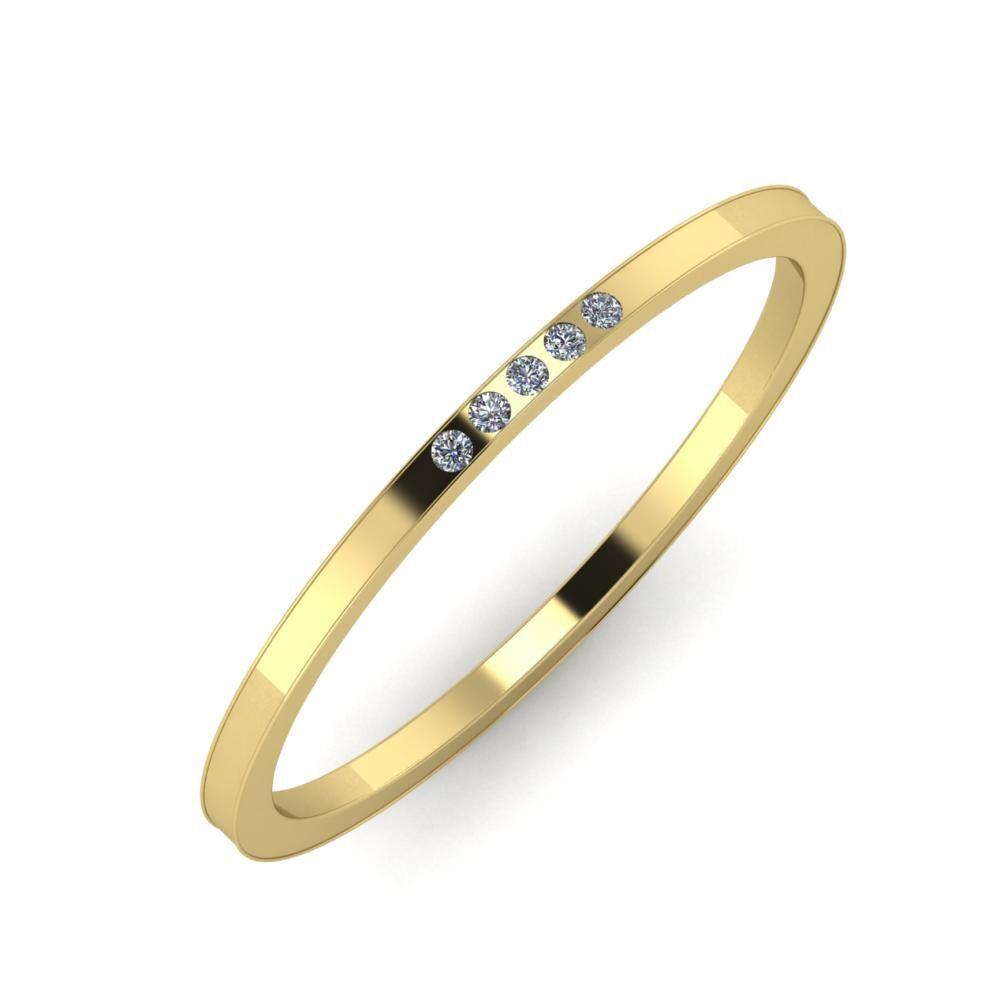 Agrippína - Agrippína - Adelaida 3mm 14 karátos sárga arany karikagyűrű