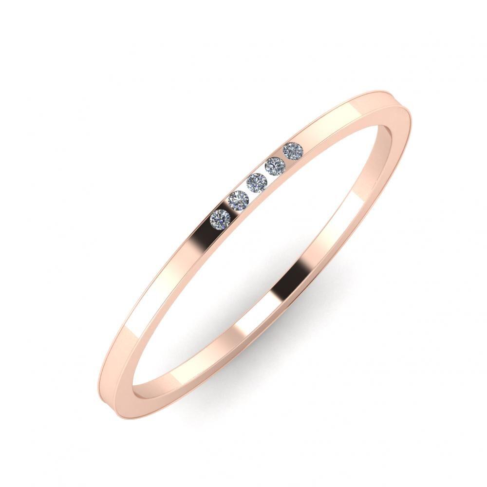 Agrippína - Agrippína - Adelaida 3mm 14 karátos rosé arany karikagyűrű