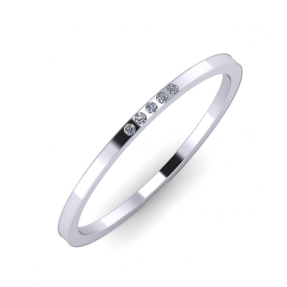 Agrippína - Agrippína - Adelaida 3mm platina karikagyűrű