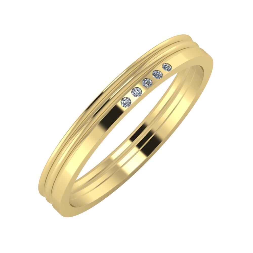 Agrippína - Agrippína - Adelgunda 3mm 14 karátos sárga arany karikagyűrű