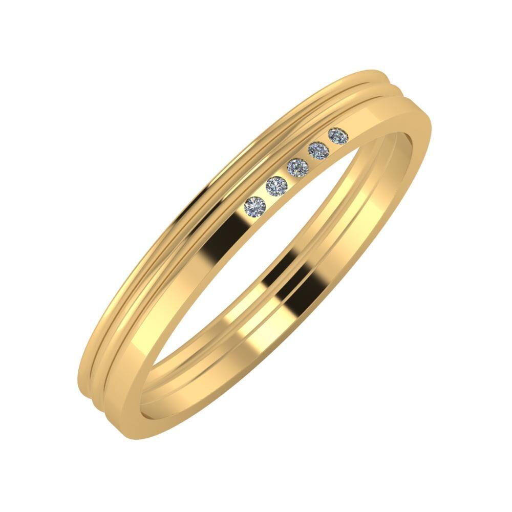 Agrippína - Agrippína - Adelgunda 3mm 18 karátos sárga arany karikagyűrű
