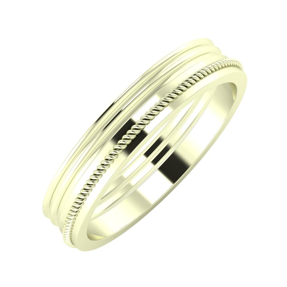 Agrippína - Agrippína - Afrodité 4mm 22 karátos fehér arany karikagyűrű