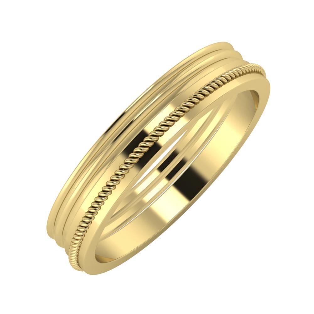 Agrippína - Agrippína - Afrodité 4mm 14 karátos sárga arany karikagyűrű