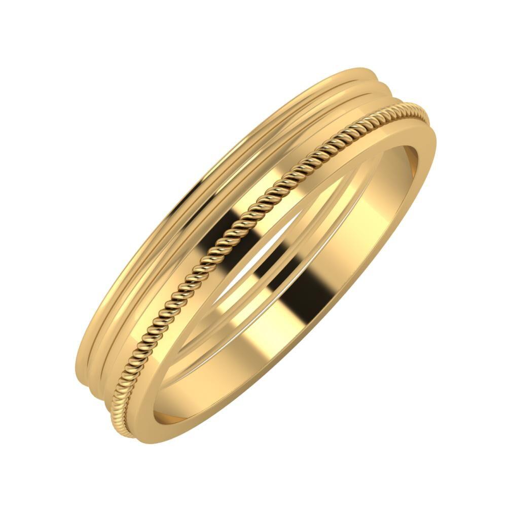 Agrippína - Agrippína - Afrodité 4mm 18 karátos sárga arany karikagyűrű