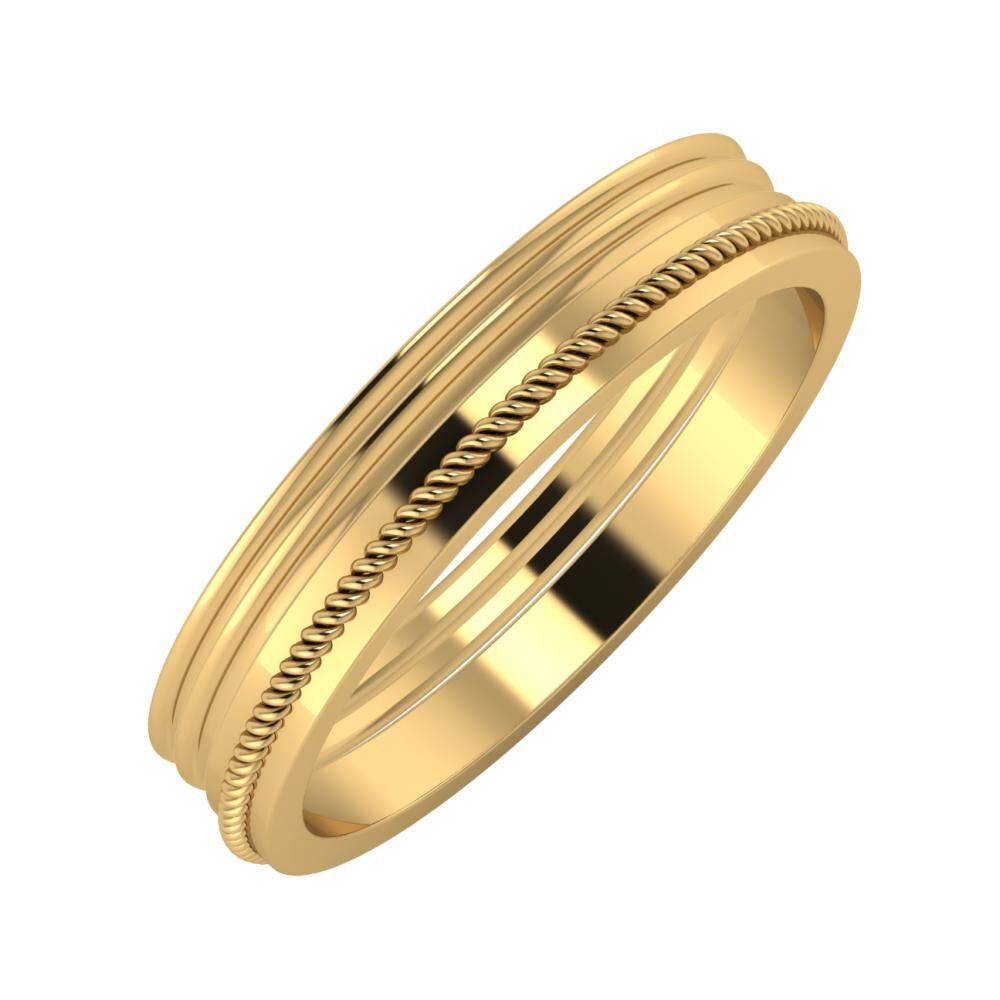 Agrippína - Agrippína - Afrodité 4mm 22 karátos sárga arany karikagyűrű