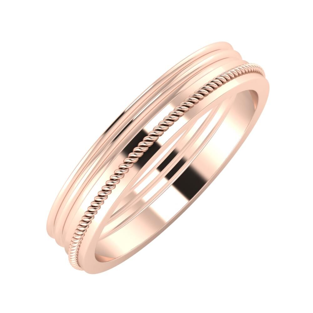 Agrippína - Agrippína - Afrodité 4mm 14 karátos rosé arany karikagyűrű