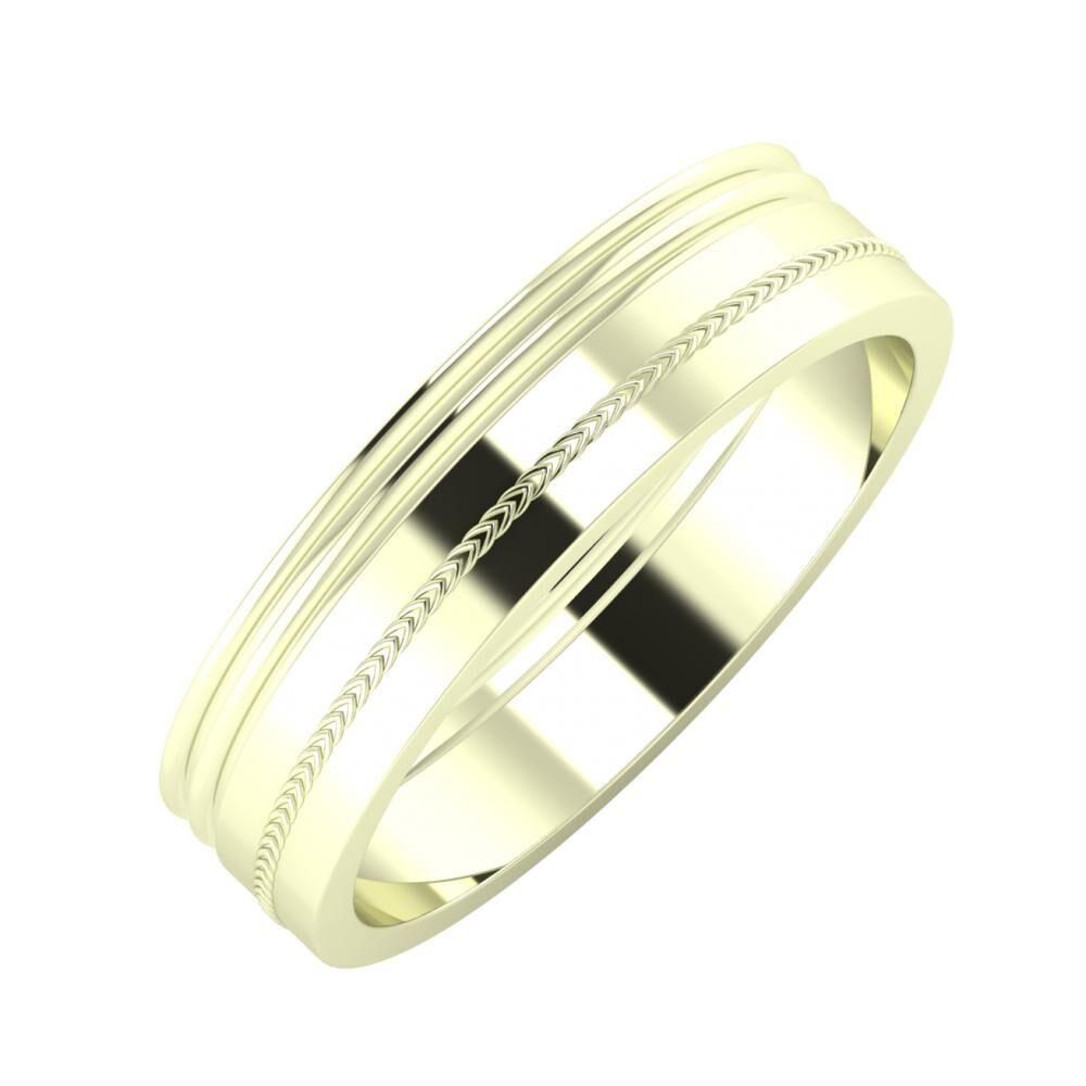 Agrippína - Agrippína - Agáta 5mm 22 karátos fehér arany karikagyűrű