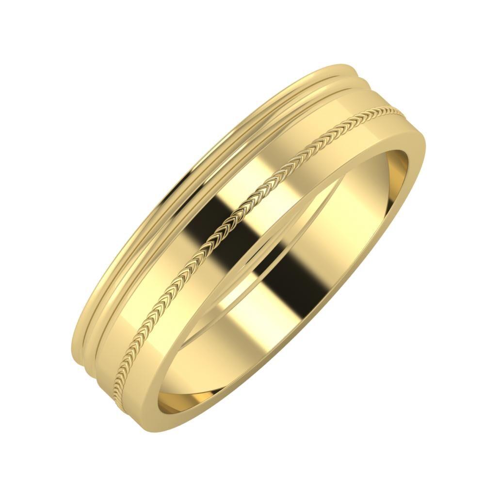 Agrippína - Agrippína - Agáta 5mm 14 karátos sárga arany karikagyűrű