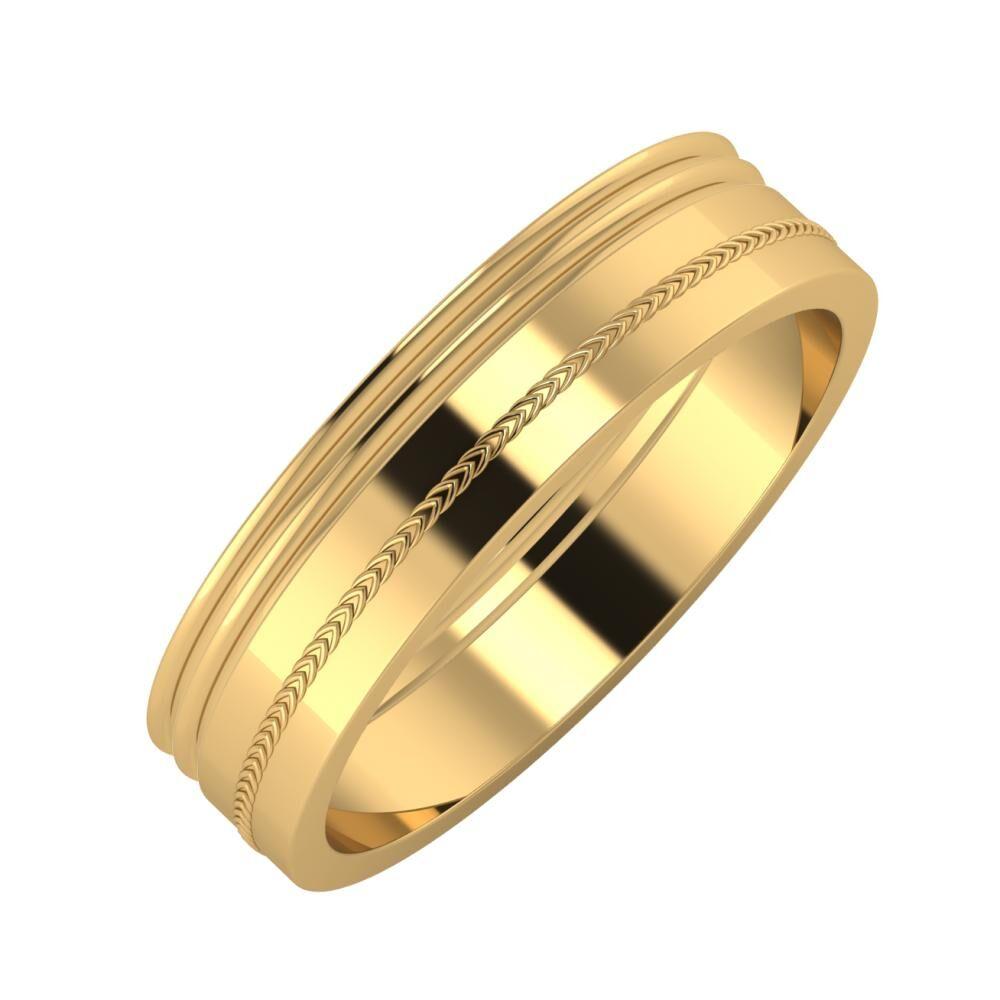 Agrippína - Agrippína - Agáta 5mm 18 karátos sárga arany karikagyűrű