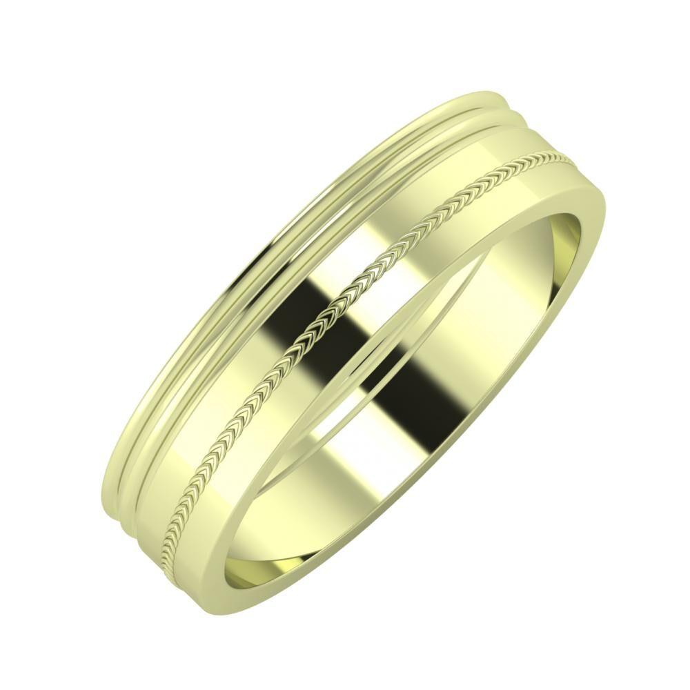 Agrippína - Agrippína - Agáta 5mm 14 karátos zöld arany karikagyűrű