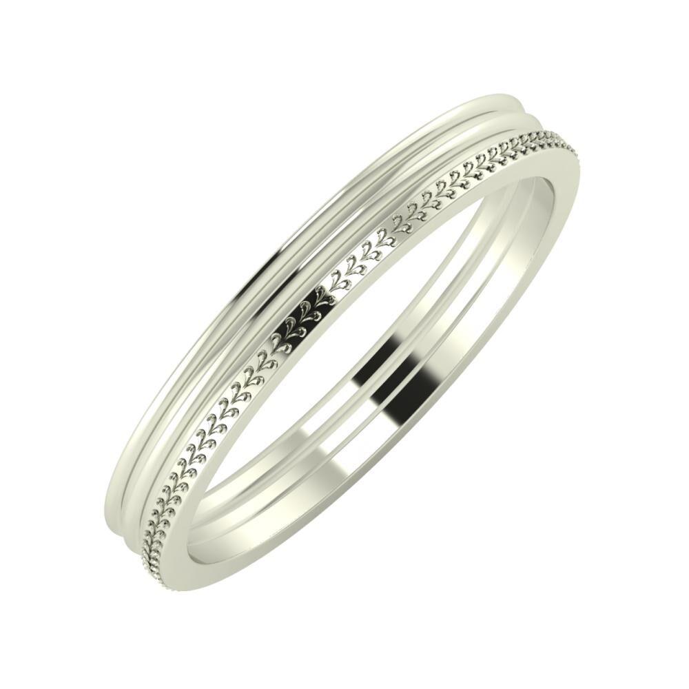 Agrippína - Agrippína - Aglája 3mm 18 karátos fehér arany karikagyűrű