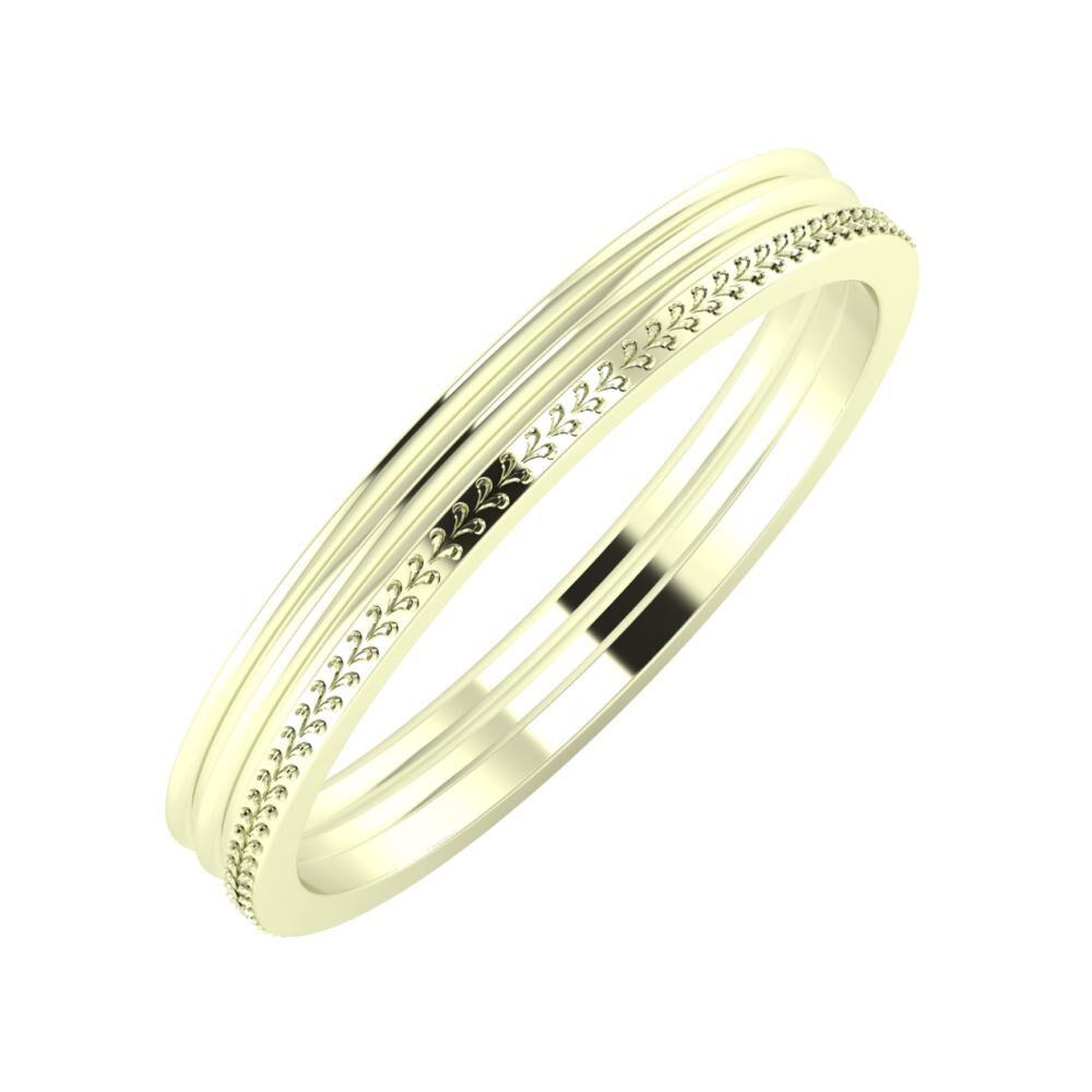 Agrippína - Agrippína - Aglája 3mm 22 karátos fehér arany karikagyűrű
